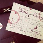 partecipazione di nozze tema vino